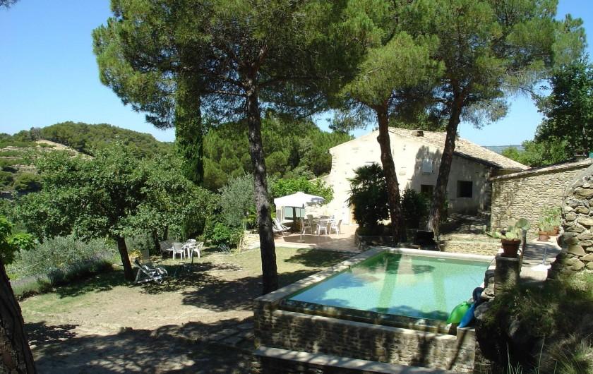 Location de vacances - Mas à Piégon - Piscine à débordement