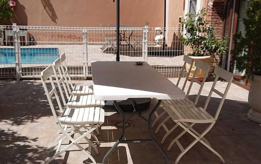 Location de vacances - Gîte à Siruela - Patio de la planta baja