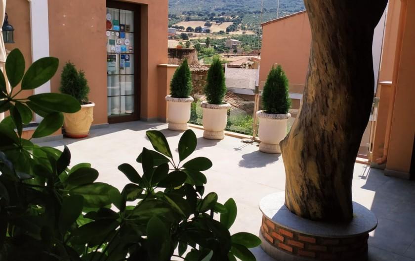 Location de vacances - Gîte à Siruela - Solarium-terraza de LAS ENCINAS