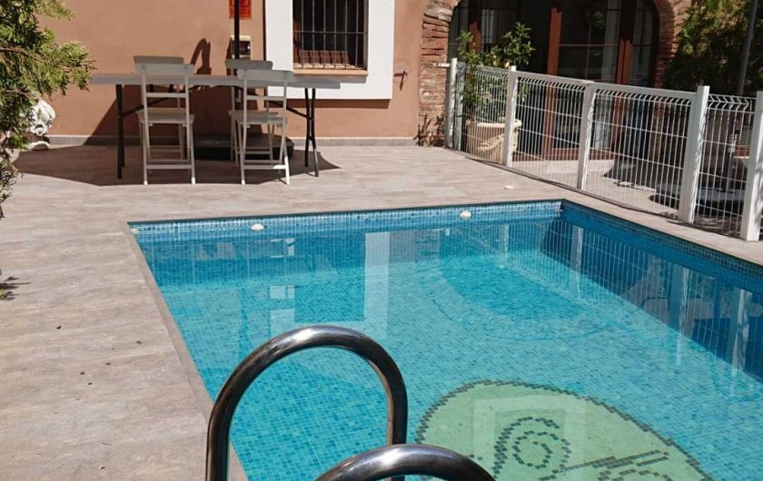 Location de vacances - Gîte à Siruela - Detalle de la piscina