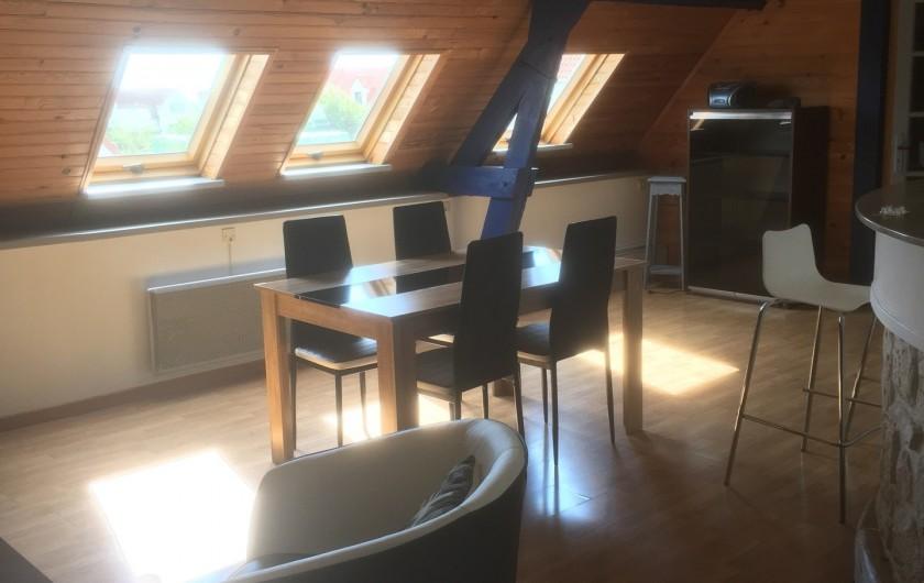 Location de vacances - Appartement à Audinghen - séjour salle à manger
