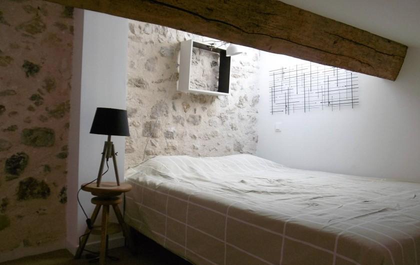 Location de vacances - Gîte à Roujan - Chambre en mezzanine-lit en 160 cm (Queen size)