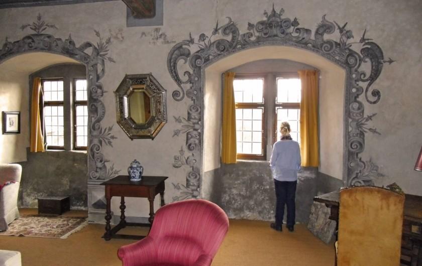 """Location de vacances - Appartement à Unsleben - Le """"Salon bleu"""" qui loge un lit extra-large pour deux personnes"""
