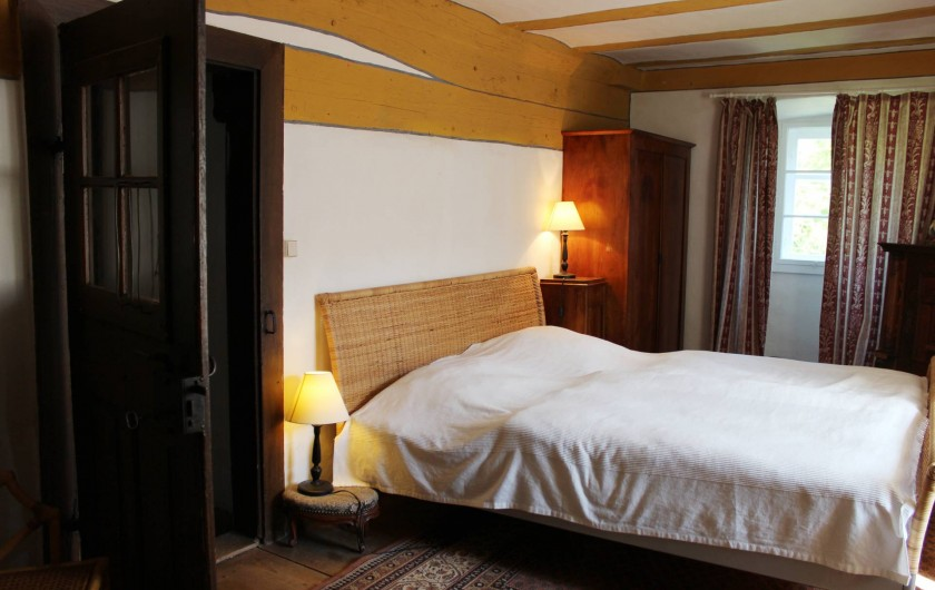 Location de vacances - Appartement à Unsleben - Une autre salle a dormir avec un lit double extra large.
