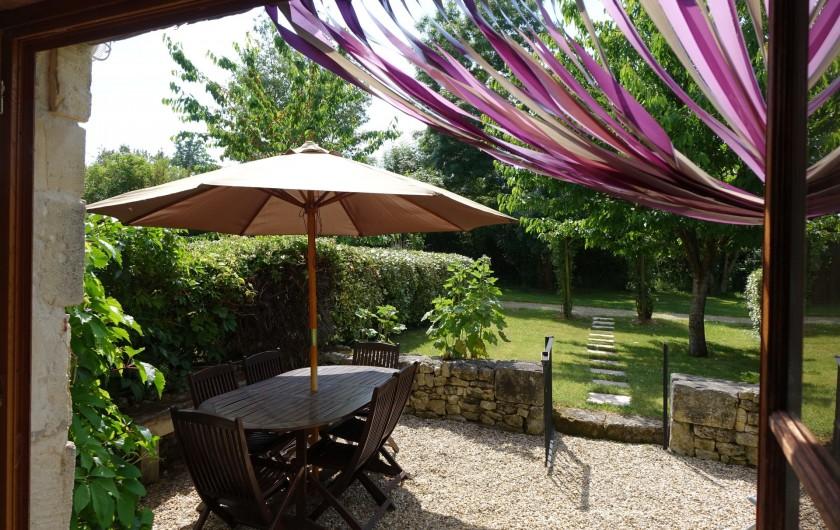 Location de vacances - Gîte à Saint-Crepin - Terrasse - gite La Lavande