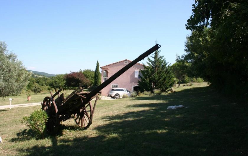 Location de vacances - Villa à Saint-Martin-sur-Lavezon - Coté nord