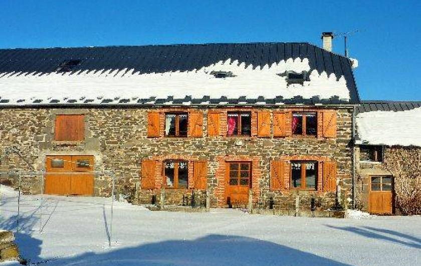 Location de vacances - Gîte à Paulhac - La maison sous la neige
