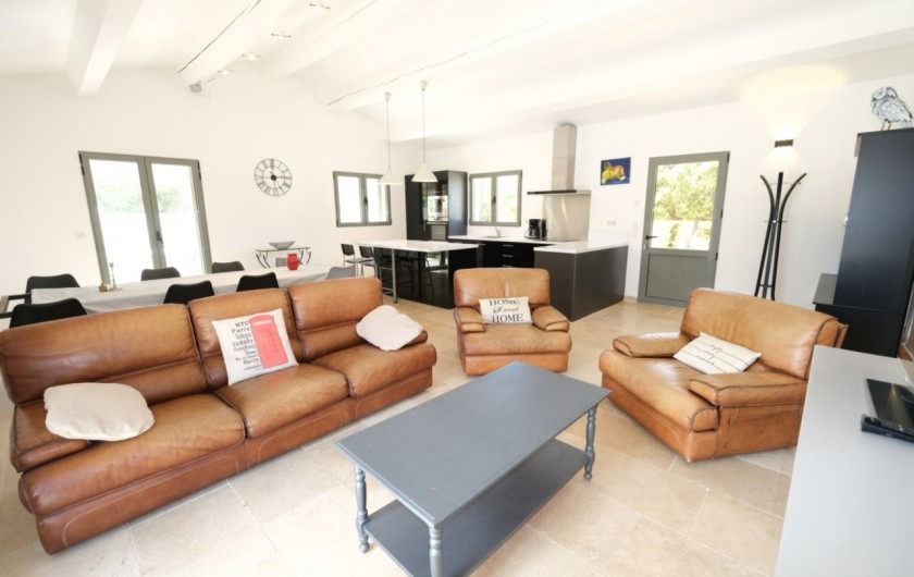 Location de vacances - Villa à Aureille - Salon avec télévision
