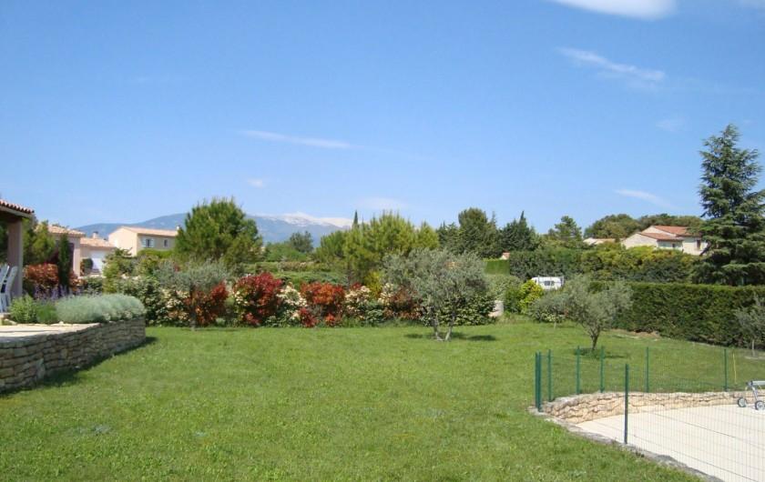 Location de vacances - Villa à Mormoiron - Le jardin