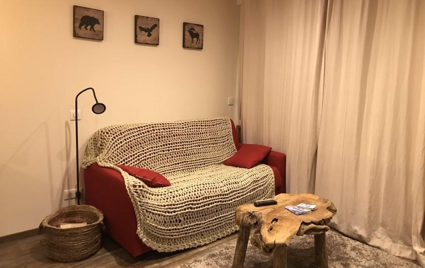 Location de vacances - Appartement à Val Thorens - Rapido convertible un vrai 140 x 190 en un seul matelas très confort)