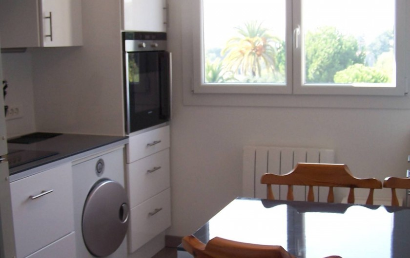 Location de vacances - Appartement à Cannes - Cuisine coins repas
