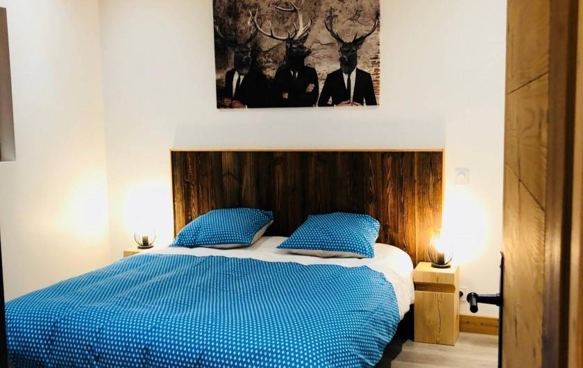 Location de vacances - Chalet à Saint-Sigismond - Chambre La Pointe d'Orchex 1 lit 160X190 cm