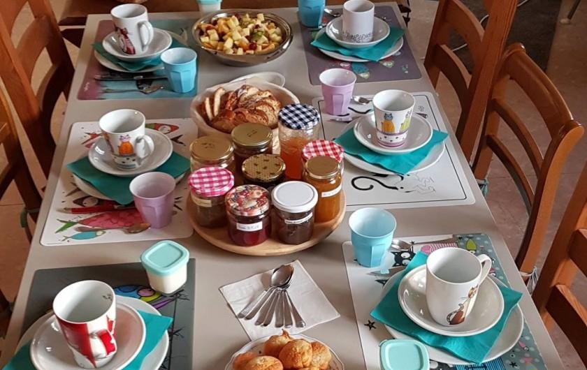 Location de vacances - Chambre d'hôtes à Sauveterre-de-Rouergue - Chambre d'hôtes : aperçu des petits déjeuners