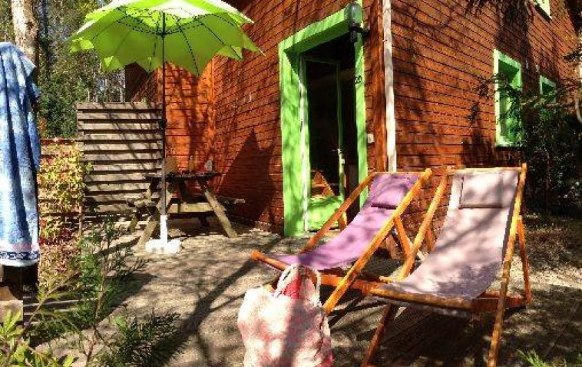 Location de vacances - Chalet à Messanges - Terrasse