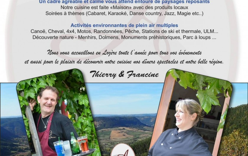 Location de vacances - Chambre d'hôtes à Saint-Étienne-du-Valdonnez - Découvrir les Gorges du Tarn à 20 mn de l'Auberge du Bramont