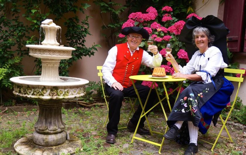 Location de vacances - Gîte à Ribeauville - Nous sommes ravis de vous recevoir au Gîte Alsacien.