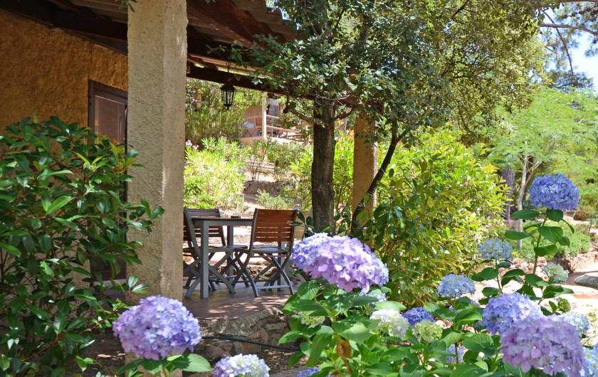 Location de vacances - Bungalow - Mobilhome à Porto-Vecchio - Terrasse (privée)