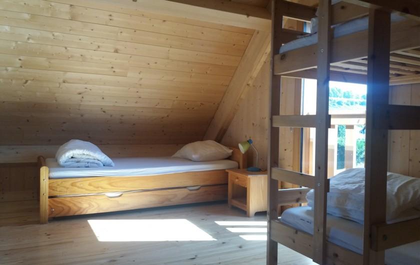 Location de vacances - Chalet à Chastreix - chambre 2 (le lit simple)
