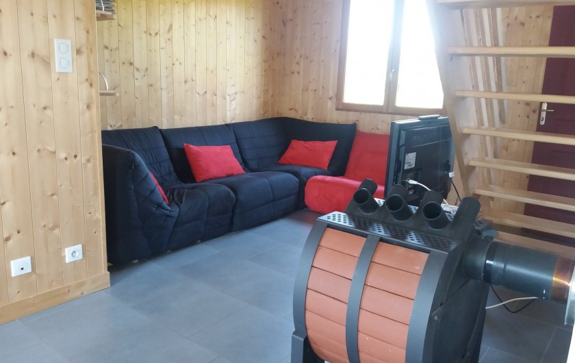 Location de vacances - Chalet à Chastreix - salon