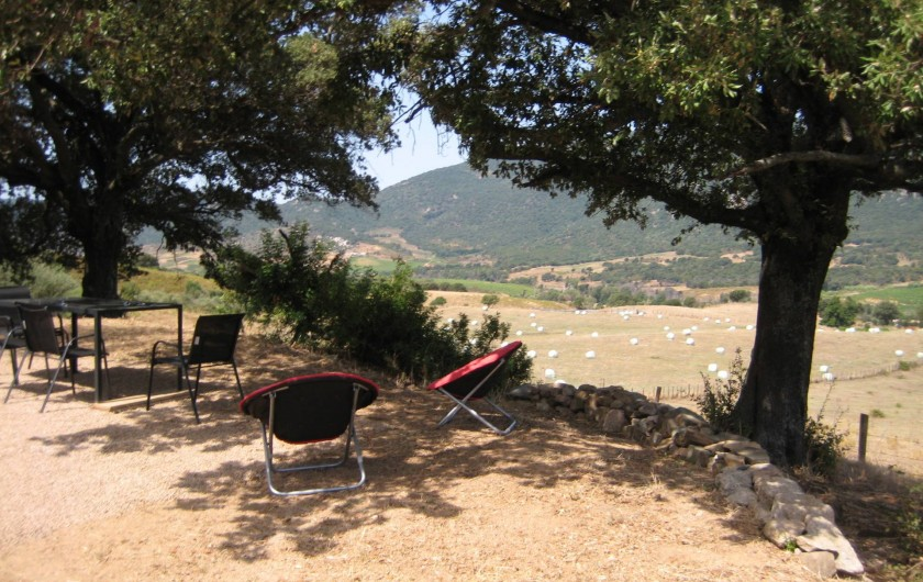 Location de vacances - Appartement à Sartène - Terrasse avec vue