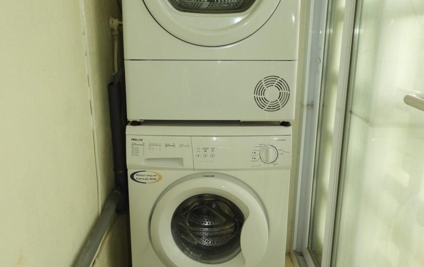 Location de vacances - Appartement à Marseille - Lave-linge et sèche-linge