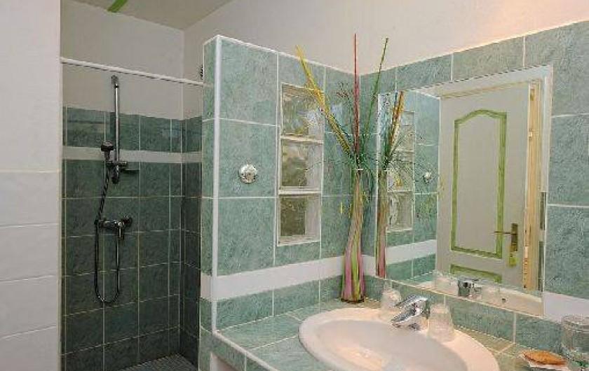 Location de vacances - Villa à Bonifacio - salle de bain de la chambre unique