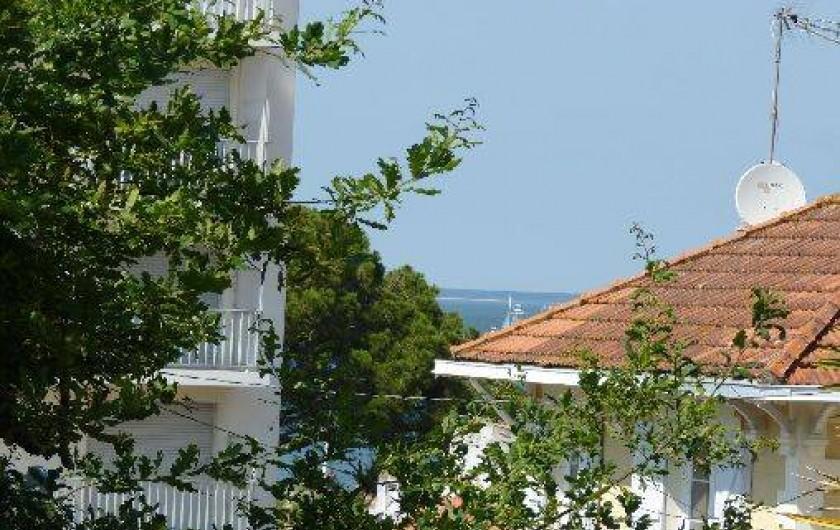 Location de vacances - Appartement à Arcachon - vue depuis le balcon