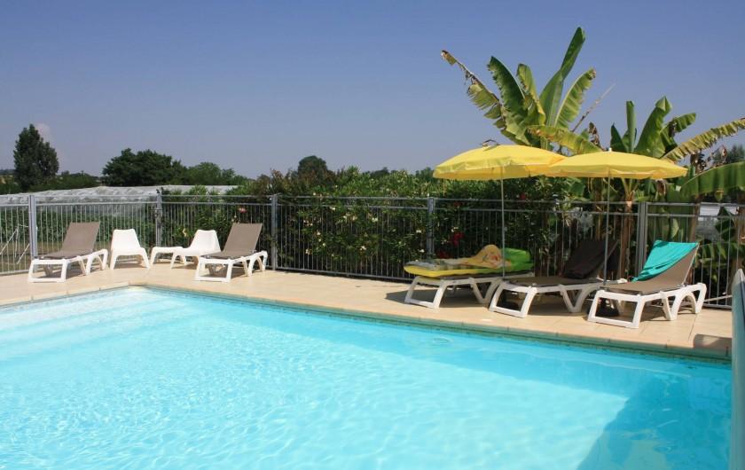 Location de vacances - Gîte à Lafrançaise - Votre piscine sécurisée. 10/5 avec escalier.