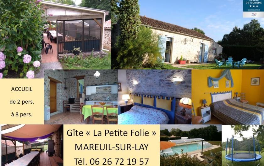 Location de vacances - Gîte à Mareuil-sur-Lay-Dissais - salle à manger