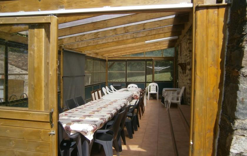 Location de vacances - Gîte à Mareuil-sur-Lay-Dissais - terrasse couverte