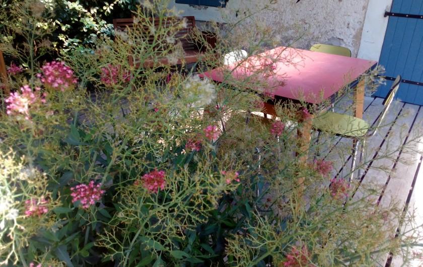 Location de vacances - Gîte à Marsanne - terrasse du gite champetre   drome de marsanne