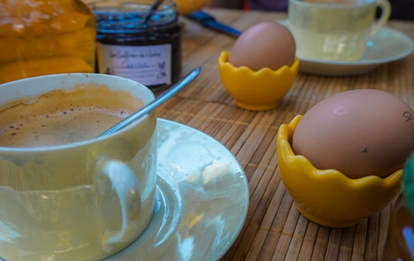 Location de vacances - Gîte à Marsanne - petit déjeuner au gite champetre drome de marsanne