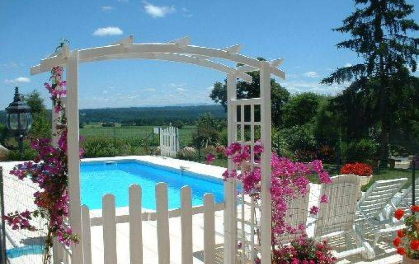 Location de vacances - Gîte à Duffort - La piscine