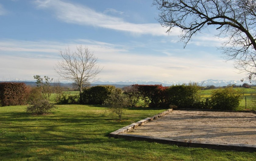 Location de vacances - Gîte à Duffort - Terrain de pétanque