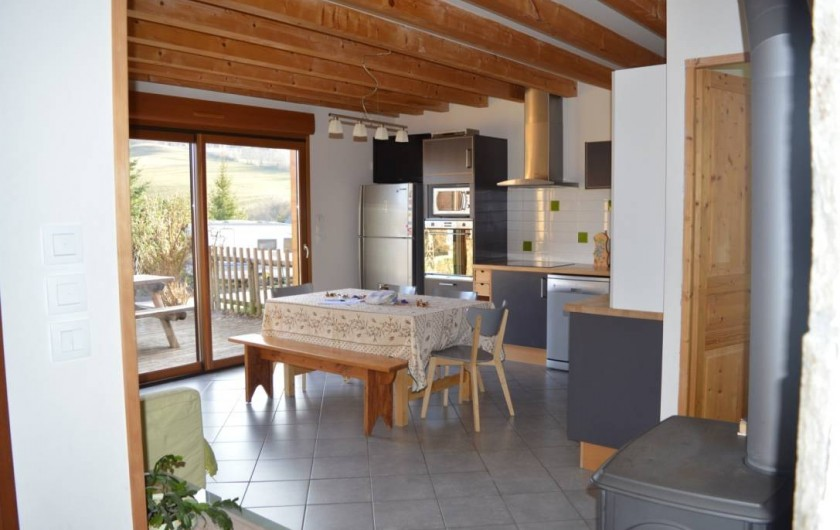 Location de vacances - Chalet à Saint-Hilaire - Cuisine aménagée avec gout