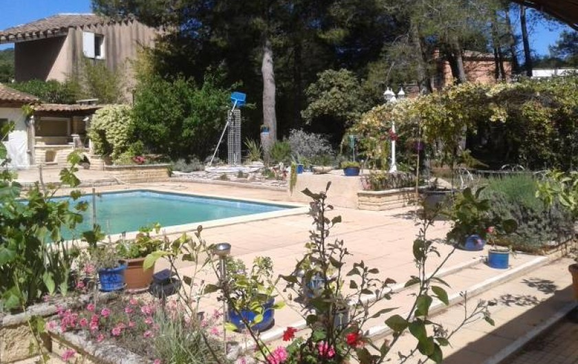 Location de vacances - Gîte à Villetelle - terrasses piscine