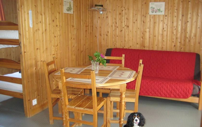 Location de vacances - Chalet à Le Malzieu-Ville - salon ,salle a manger