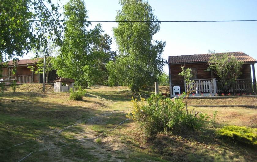 Location de vacances - Chalet à Le Malzieu-Ville - Chalets pour 4 pers, à louer au Malzieu ville, dans un cadre magnifique.