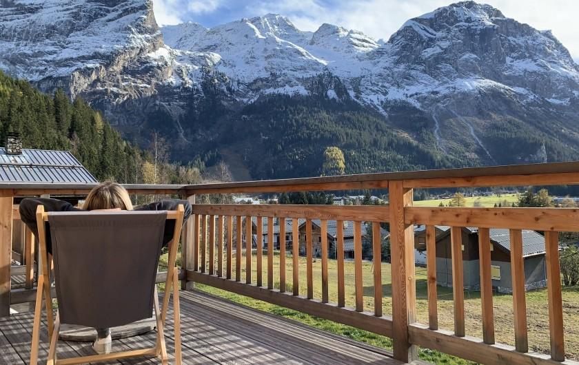 Location de vacances - Chalet à Pralognan-la-Vanoise - Vue depuis la terrasse plein sud