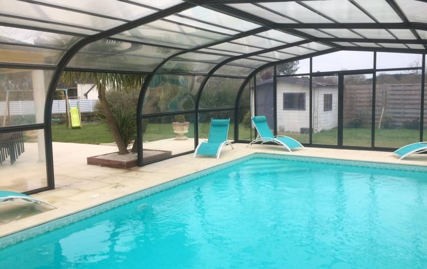 Location de vacances - Villa à Plouhinec - Piscine couverte ouvrable sur les côtés