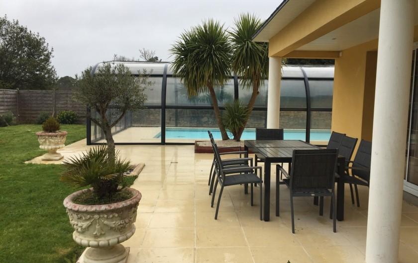 Location de vacances - Villa à Plouhinec - salon de jardin