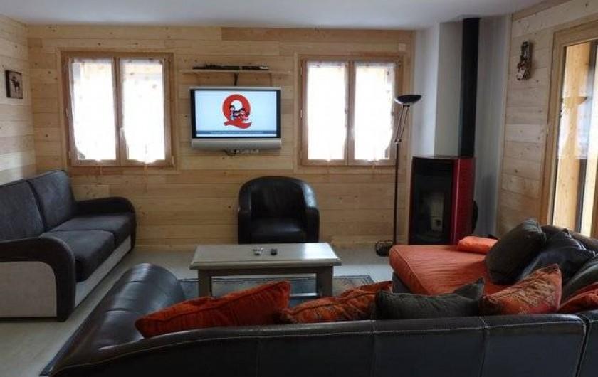 Location de vacances - Appartement à Vaujany - SALON