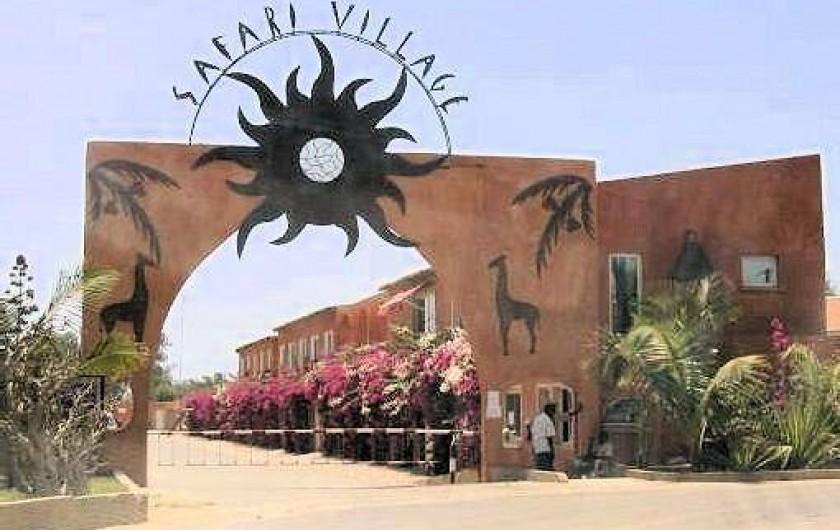 Location de vacances - Villa à Saly - ENTRÉE DE LA RÉSIDENCE SAFARI VILLAGE