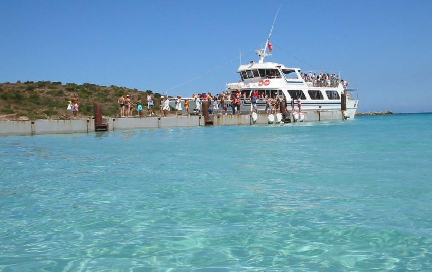 Location de vacances - Maison - Villa à Oletta - La plage du lotu et sa navette de transport depuis le port de st-Florent