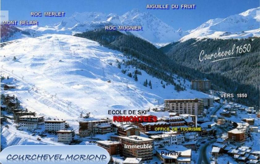 Location de vacances - Appartement à Courchevel 1650 (Moriond) - Vue d'ensemble et Localisation