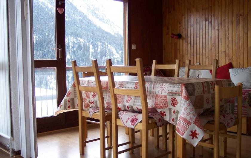 Location de vacances - Appartement à Courchevel 1650 (Moriond) - Salle à manger