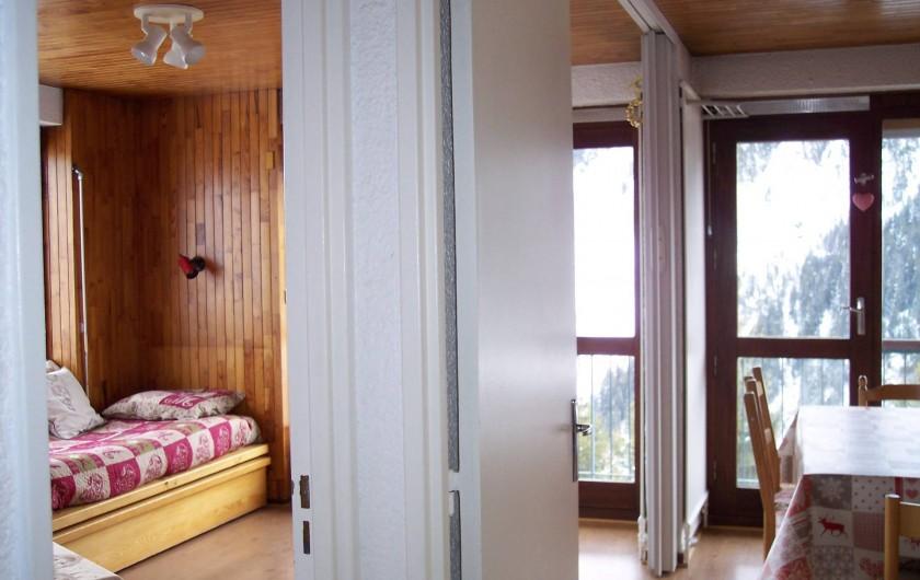 Location de vacances - Appartement à Courchevel 1650 (Moriond) - Vue salon et salle à manger
