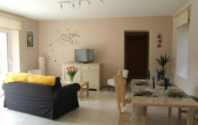 Location de vacances - Gîte à Argenteuil-sur-Armançon - Côté séjour