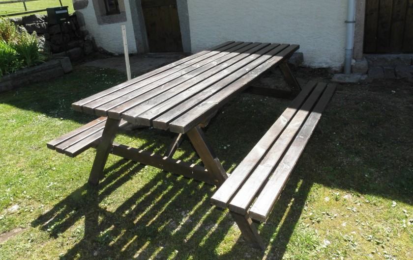 Location de vacances - Maison - Villa à Thiéfosse - Table de salon de jardin