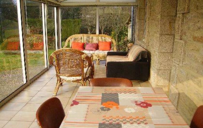 Location de vacances - Gîte à Bignan - veranda